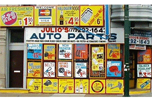 Julios Auto Parts | Classic Hand-painted Signs | 773-292-1643 | 3000 W Diversey Ave, Chicago IL 60647